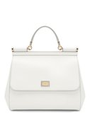 Сумка Sicily medium Dolce & Gabbana белая | Фото №1