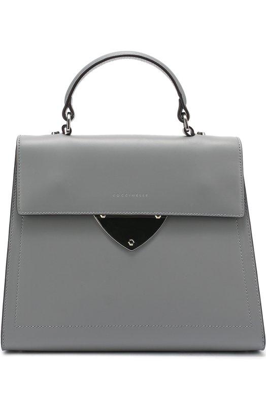 Кожаная сумка B14 CoccinelleЖенские сумки<br><br><br>Пол: Женский<br>Возраст: Взрослый<br>Размер производителя vendor: NS<br>Материал: Кожа натуральная: 100%;<br>Цвет: Серый
