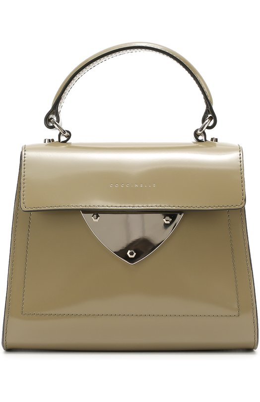Сумка B14 Mini из лаковой кожи CoccinelleЖенские сумки<br><br><br>Пол: Женский<br>Возраст: Взрослый<br>Размер производителя vendor: NS<br>Материал: Кожа натуральная: 100%;<br>Цвет: Зеленый