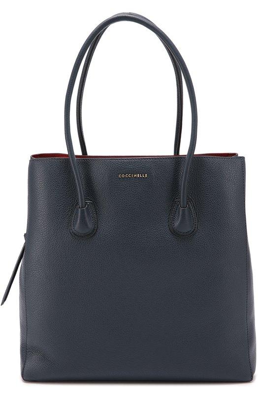 Сумка-шоппер Celly CoccinelleЖенские сумки<br><br><br>Пол: Женский<br>Возраст: Взрослый<br>Размер производителя vendor: NS<br>Материал: Кожа натуральная: 100%;<br>Цвет: Синий