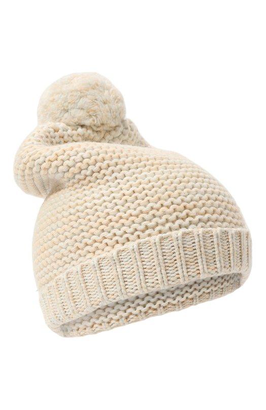 Вязаная шапка с помпоном Chloe C11133/54-58