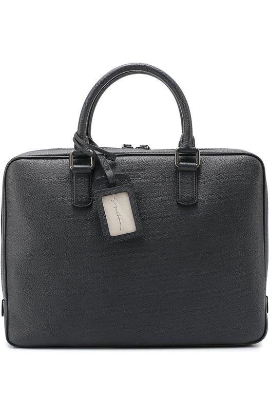 Купить Кожаная сумка для ноутбука Giorgio Armani, Y2P066/YAS1J, Италия, Темно-синий, Кожа натуральная: 100%;