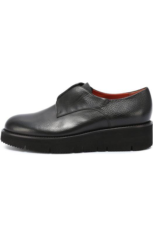 Кожаные ботинки на толстой подошве SantoniБотинки<br><br><br>Российский размер RU: 41<br>Пол: Женский<br>Возраст: Взрослый<br>Размер производителя vendor: 41<br>Материал: Кожа натуральная: 100%; Стелька-кожа: 100%; Подошва-резина: 100%;<br>Цвет: Черный