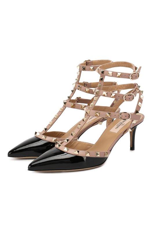 Лаковые туфли Valentino Garavani Rockstud с ремешками Valentino Valentino