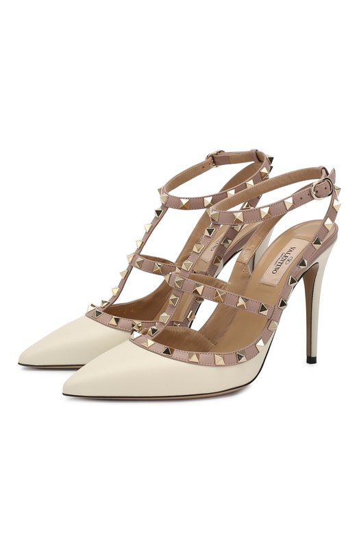 Купить Кожаные туфли Rockstud на шпильке Valentino Италия 5088504 ZW2S0393/V0D