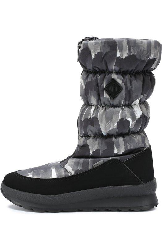 Стеганые сапоги на молнии Jog Dog 01110R-R/BLACK