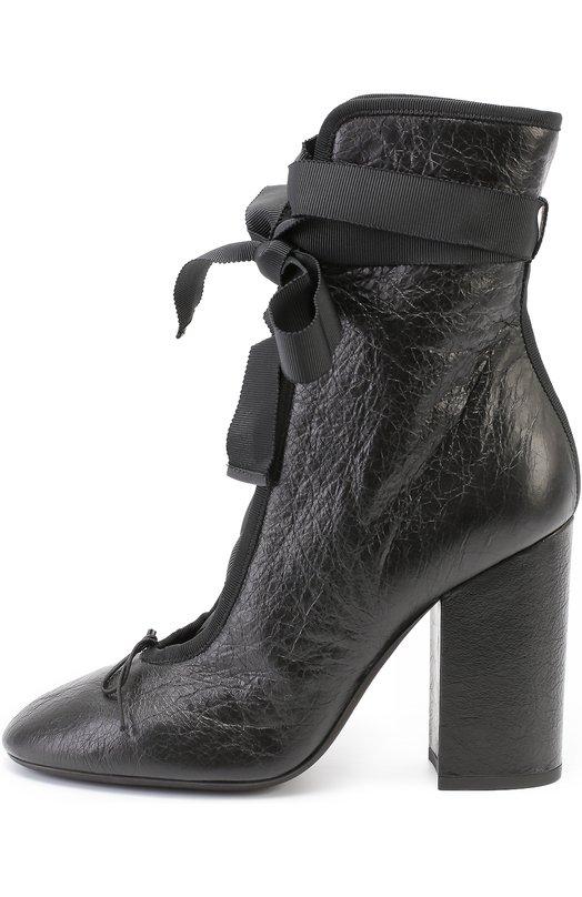 Кожаные ботильоны Ballet на шнуровке Valentino LW0S0B09/NCJ