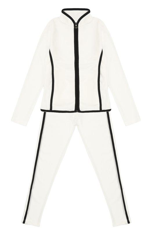 Спортивный костюм с контрастной окантовкой Moncler Enfant B2-954-88543-05-80379/12-14