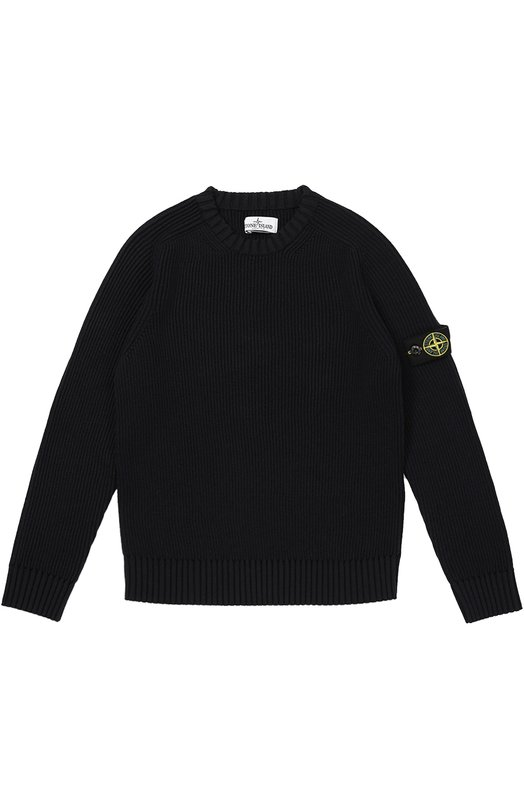 Шерстяной пуловер с нашивкой на рукаве Stone Island 6516508D2/10-14