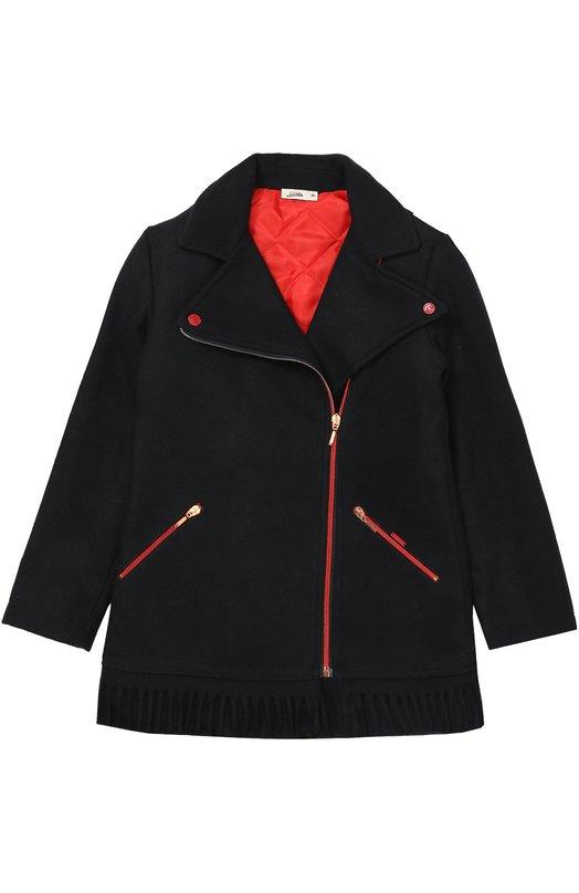Пальто с контрастной отделкой Jean Paul GaultierВерхняя одежда<br>Синее пальто прямого кроя, с гофрированной отделкой внизу вошло в коллекцию сезона осень-зима 2016 года. Модель сшита из плотной полушерстяной ткани. Широкие заостренные лацканы дополнены кнопками. Боковые врезные карманы, как и само изделие, застегиваются на молнии.<br><br>Размер Years: 14<br>Пол: Женский<br>Возраст: Детский<br>Размер производителя vendor: 158cm<br>Материал: Волокна прочие: 5%; Акрил: 45%; Шерсть: 25%; Полиэстер: 25%; Подкладка-полиэстер: 100%;<br>Цвет: Темно-синий