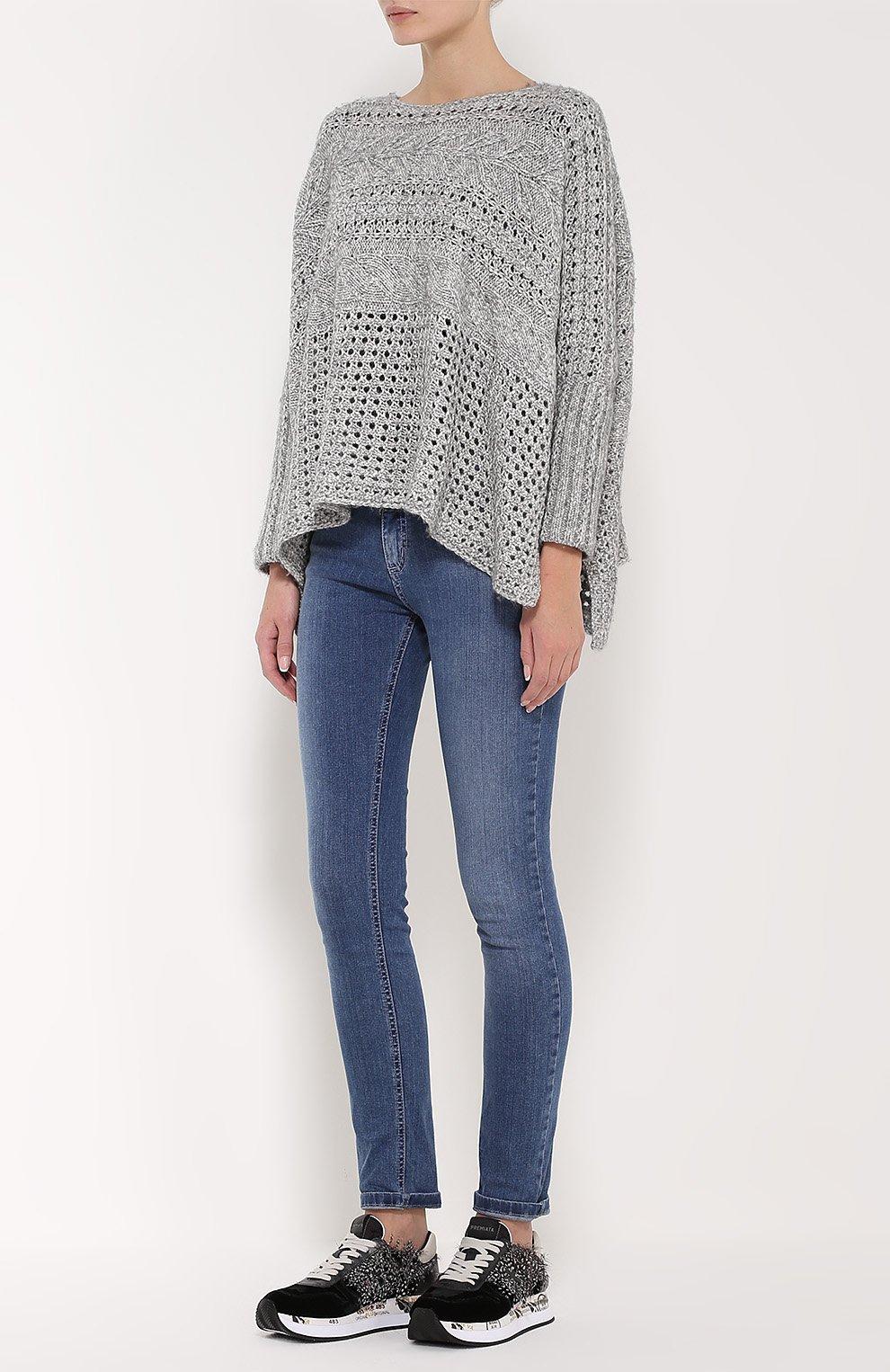 Свободный вязаный пуловер с доставкой