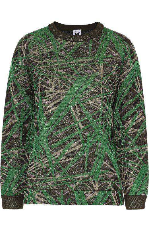 Пуловер свободного кроя с металлизированной отделкой M Missoni LD0KC05G/29S