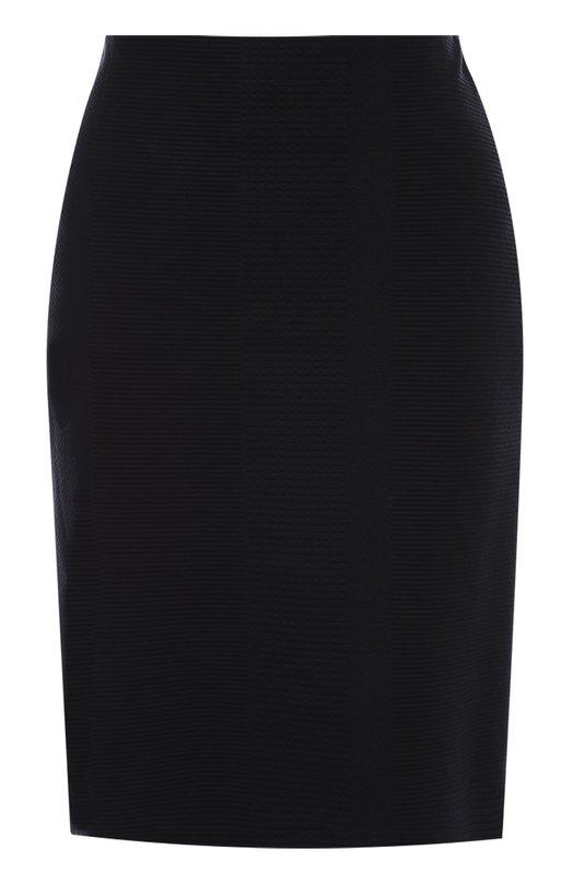 Облегающая мини-юбка с фактурной отделкой HUGO 50320501