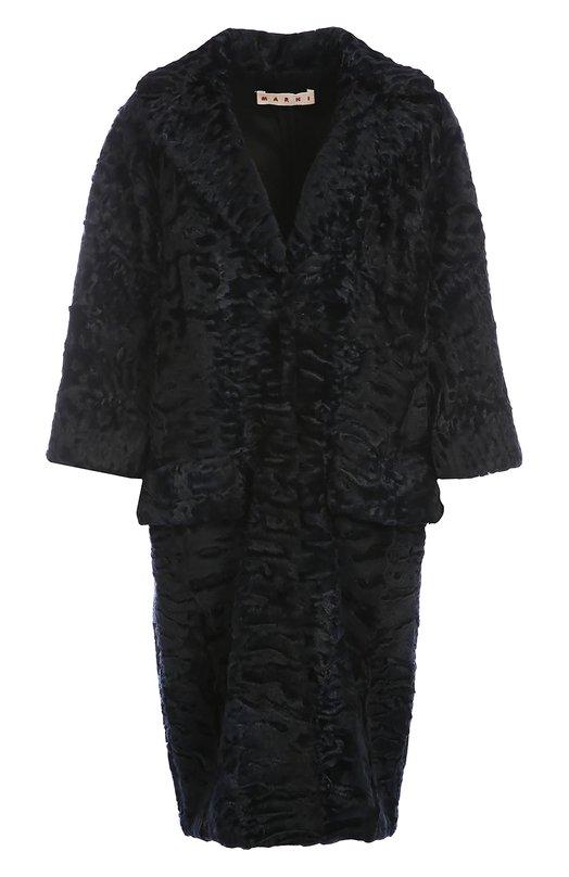 Меховое пальто с укороченным рукавом и широкими лацканами Marni CPMNS12U01P0365