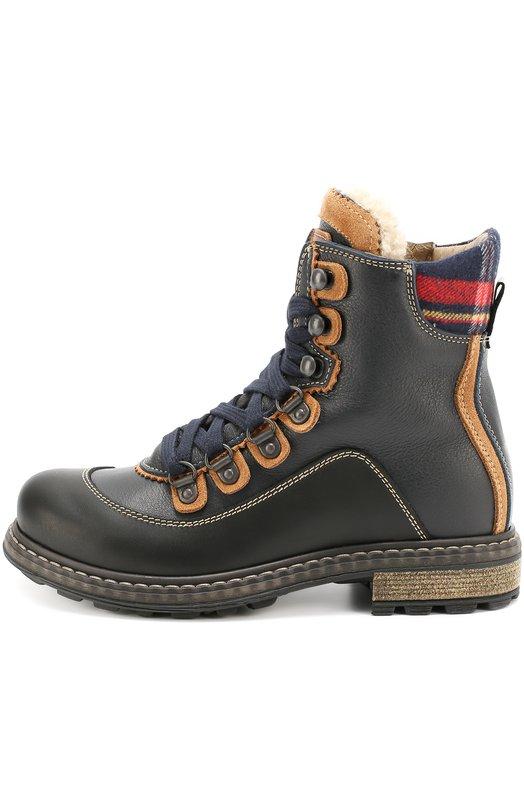Высокие кожаные ботинки Dsquared2 45472/28-35