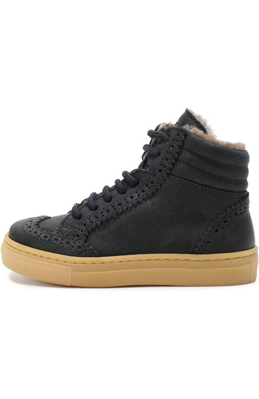 Замшевые кеды с внутренней отделкой из натурального меха GallucciСпортивная обувь<br><br><br>Российский размер RU: 25<br>Пол: Мужской<br>Возраст: Детский<br>Размер производителя vendor: 25<br>Материал: Кожа натуральная: 100%; Подошва-резина: 100%; Стелька-овчина: 100%;<br>Цвет: Синий