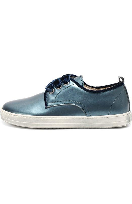 Кеды из металлизированной кожи BeberlisСпортивная обувь<br><br><br>Российский размер RU: 29<br>Пол: Женский<br>Возраст: Детский<br>Размер производителя vendor: 29<br>Материал: Кожа натуральная: 100%; Стелька-кожа: 100%; Подошва-резина: 100%;<br>Цвет: Синий