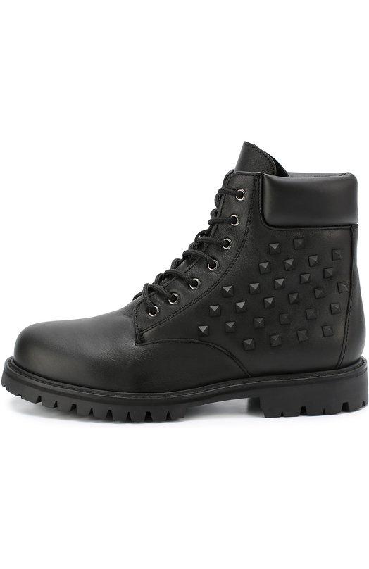 Высокие кожаные ботинки Rockstud Valentino LY0S0951/VG7
