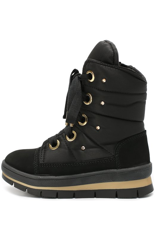 Комбинированные ботинки со стразами Jog Dog 13010R-R/29-35