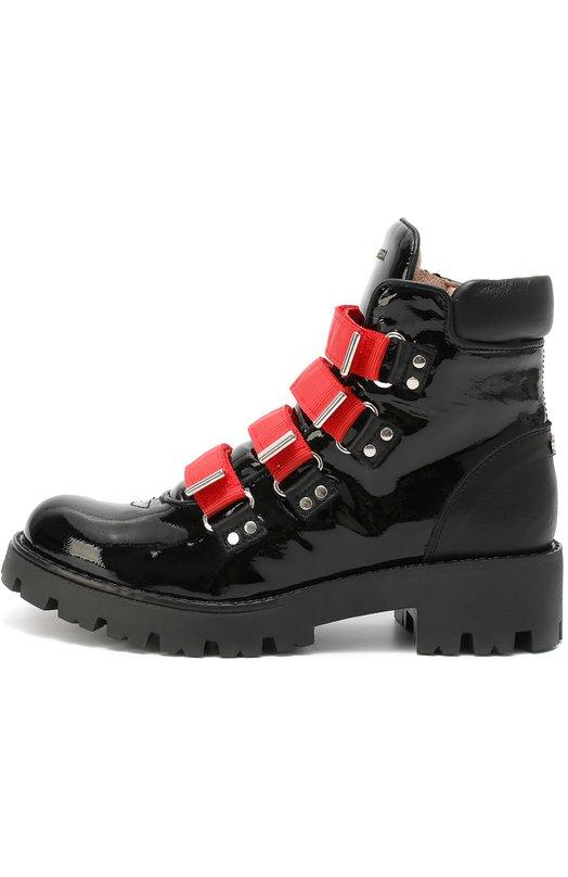 Высокие ботинки из лаковой кожи Dsquared2 45410/36-40