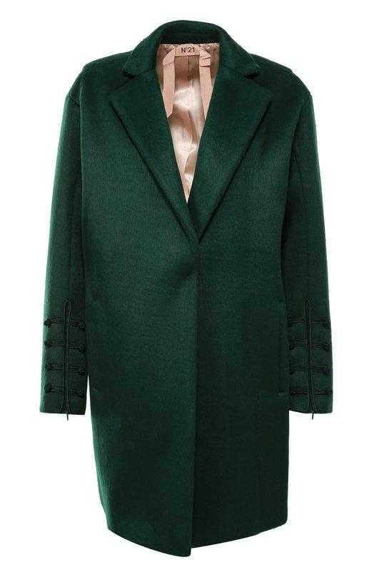 Пальто прямого кроя с кружевной вставкой на спинке No. 21 N2SN031/5362