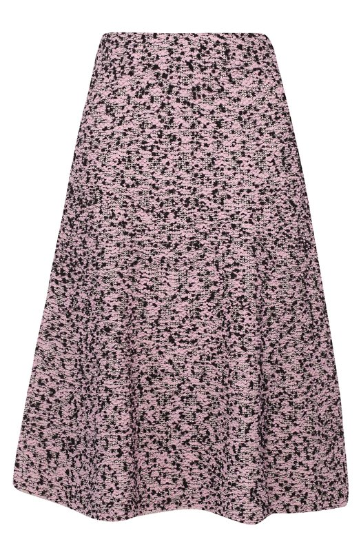 Буклированная юбка А-силуэта с широким поясом M MissoniЮбки<br>Анджела Миссони включила в осенне-зимнюю коллекцию 2016 года черно-розовую расклешенную юбку с классической посадкой на талии. Для пошива модели с цельнокроеным эластичным поясом мастера марки использовали плотный текстиль с буклированным узором.<br><br>Российский размер RU: 40<br>Пол: Женский<br>Возраст: Взрослый<br>Размер производителя vendor: 38<br>Материал: Акрил: 8%; Шерсть: 34%; Полиамид: 27%; Вискоза: 20%; Металлизированное волокно: 11%;<br>Цвет: Светло-розовый