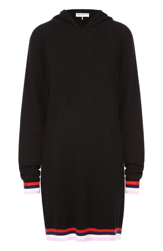 Удлиненное платье с контрастной отделкой и капюшоном Emilio Pucci 66/KP08/66879