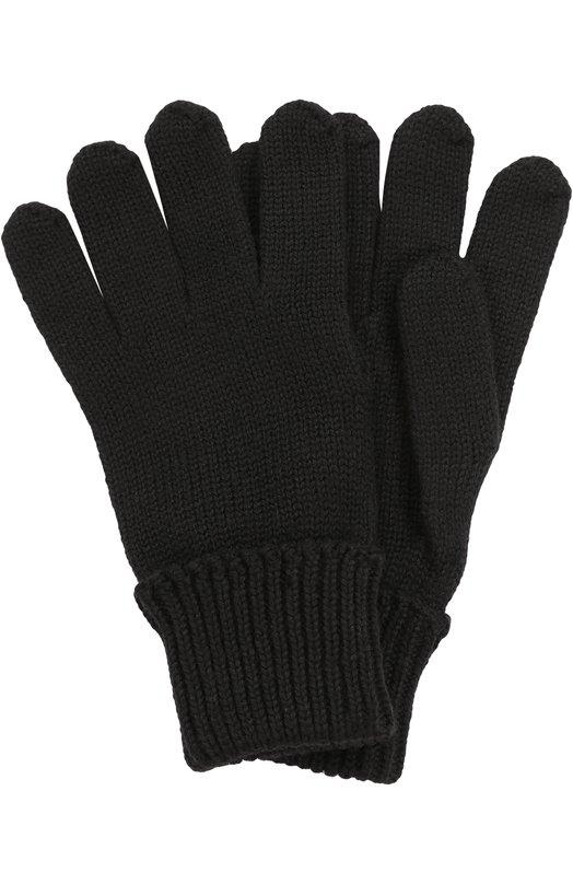 Вязаные перчатки из шерсти Il TreninoПерчатки<br><br><br>Размер Years: 8-16<br>Пол: Женский<br>Возраст: Детский<br>Размер производителя vendor: III<br>Материал: Шерсть: 100%;<br>Цвет: Черный