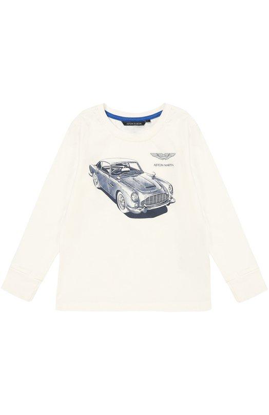 Хлопковый лонгслив с принтом Aston MartinФутболки<br><br><br>Размер Years: 7<br>Пол: Мужской<br>Возраст: Детский<br>Размер производителя vendor: 122-128cm<br>Материал: Хлопок: 100%;<br>Цвет: Белый