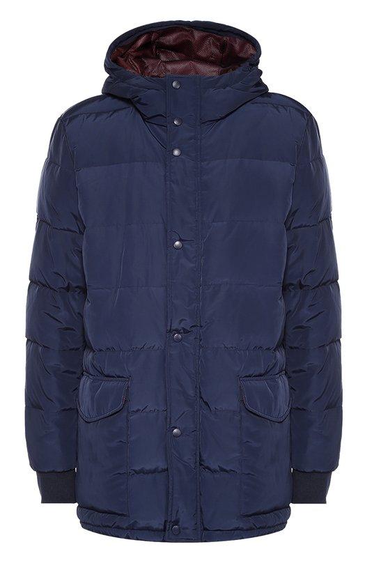 Удлиненный пуховик на молнии с капюшоном Dirk BikkembergsКуртки<br>Темно-синий пуховик с капюшоном вошел в осенне-зимнюю коллекцию 2016 года. Для изготовления стеганой куртки с двумя боковыми накладными карманами использован легкий непромокаемый текстиль. Изделие застегивается на молнию, спрятанную под планкой с кнопками.<br><br>Российский размер RU: 48<br>Пол: Мужской<br>Возраст: Взрослый<br>Размер производителя vendor: 46<br>Материал: Подкладка-полиэстер: 99%; Пух: 80%; Перо: 20%; Полиэстер: 100%; Подкладка-нейлон: 1%;<br>Цвет: Темно-синий