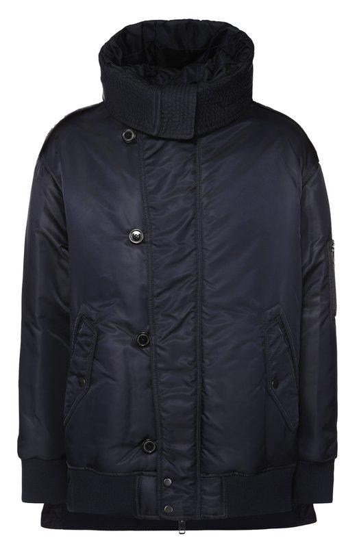 Утепленная куртка на молнии с капюшоном DieselКуртки<br>Утепленная куртка темно-синего цвета вошла в осенне-зимнюю коллекцию 2016 года. Для производства модели с воротником-стойкой, капюшоном и двумя боковыми карманами использована легкая непродуваемая и непромокаемая ткань.<br><br>Российский размер RU: 52<br>Пол: Мужской<br>Возраст: Взрослый<br>Размер производителя vendor: 50<br>Материал: Отделка-шерсть: 50%; Отделка-акрил: 47%; Отделка-эластан: 3%; Полиамид: 100%; Подкладка-полиамид: 100%;<br>Цвет: Темно-синий