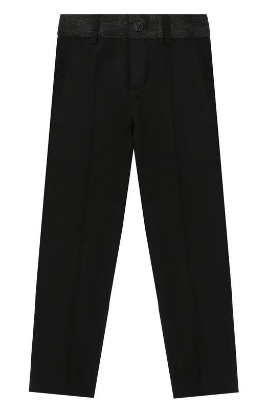 Шерстяные брюки прямого кроя Jean Paul Gaultier 5I22514/4-6A