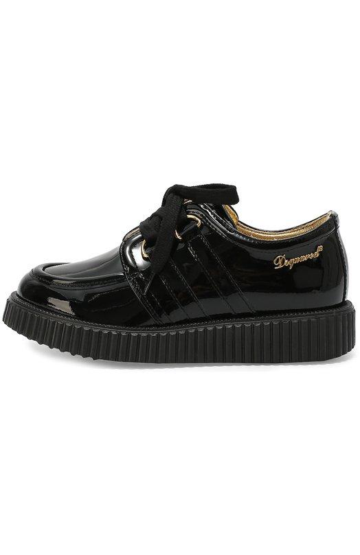 Лаковые ботинки на массивной подошве Dsquared2 45408/28-35