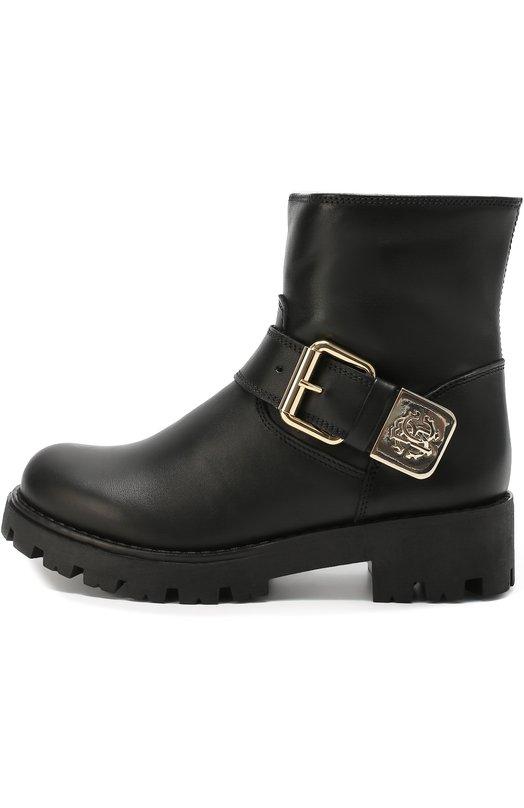 Кожаные ботинки с пряжкой Roberto Cavalli 44934/28-35