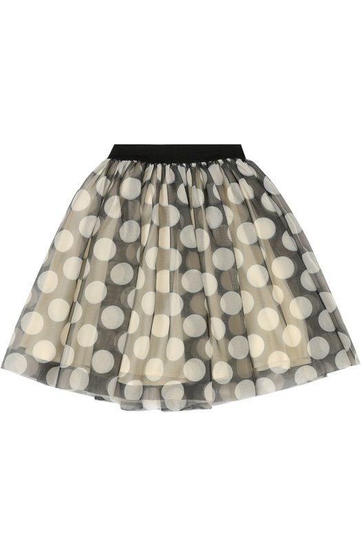 Пышная юбка с полупрозрачной отделкой Monnalisa 118705/8689/2-6