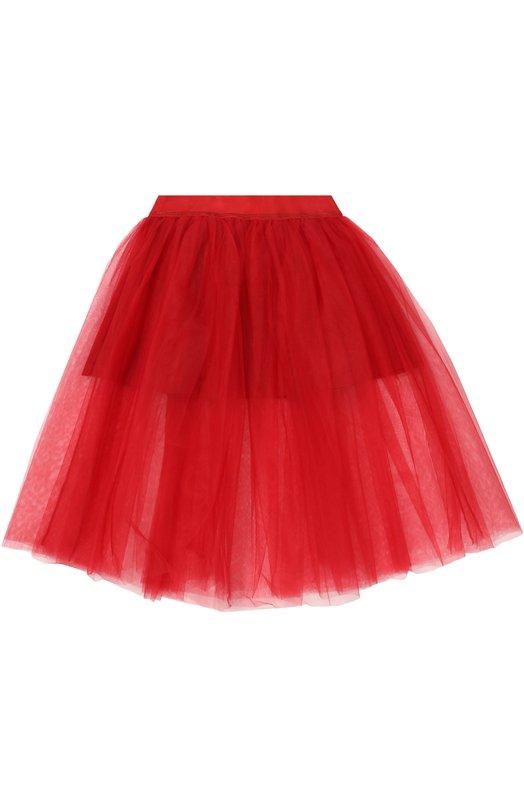 Пышная многослойная юбка MonnalisaЮбки<br><br><br>Размер Years: 5<br>Пол: Женский<br>Возраст: Детский<br>Размер производителя vendor: 110-116cm<br>Материал: Полиэстер: 95%; Эластан: 5%; Полиамид: 100%;<br>Цвет: Красный