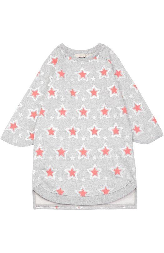 Платье с длинным рукавом и принтом в виде звезд Stella McCartneyПлатья<br><br><br>Размер Years: 4<br>Пол: Женский<br>Возраст: Детский<br>Размер производителя vendor: 104-110cm<br>Материал: Хлопок: 100%;<br>Цвет: Серый
