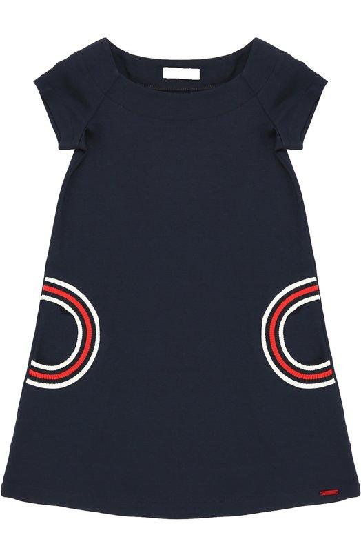 Платье прямого кроя с контрастной отделкой Jean Paul Gaultier 5I30044/4-6A