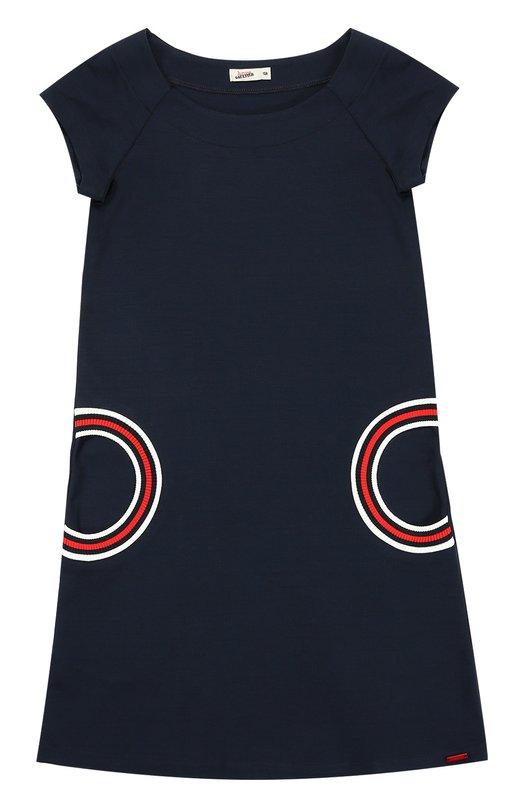 Платье прямого кроя с контрастной отделкой Jean Paul Gaultier 5I30044/8-12A+