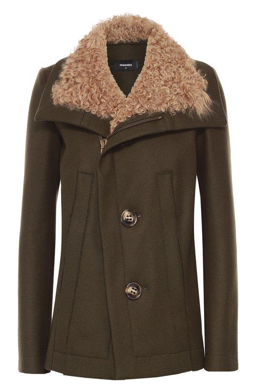 Куртка из шерсти с отделкой из овчины Dsquared2 S72AM0482/S45233