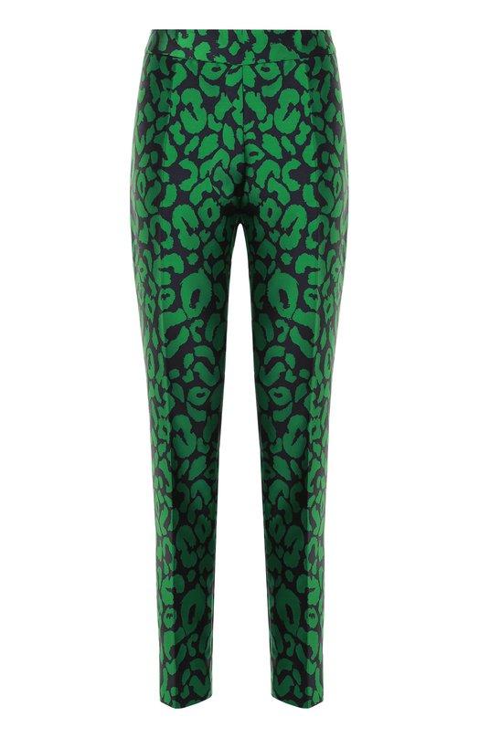 Укороченные брюки прямого кроя с контрастным принтом Oscar de la Renta R17N306NC0