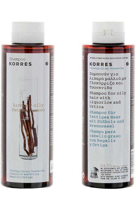Шампунь для жирных волос с лакрицей и крапивой Korres 5203069040481
