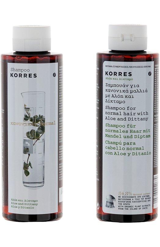 Шампунь для нормальных волос с алоэ и диким бадьяном Korres 5203069040689