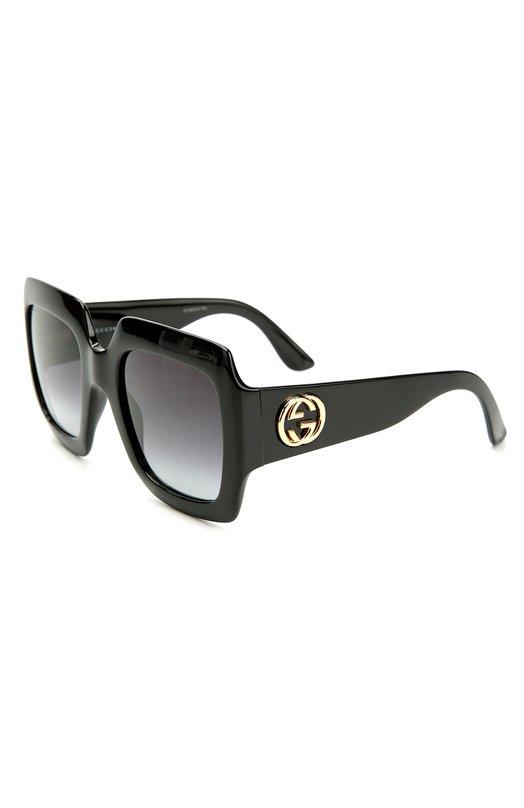 Солнцезащитные очки GucciОчки<br><br><br>Пол: Женский<br>Возраст: Взрослый<br>Размер производителя vendor: NS<br>Цвет: Черный