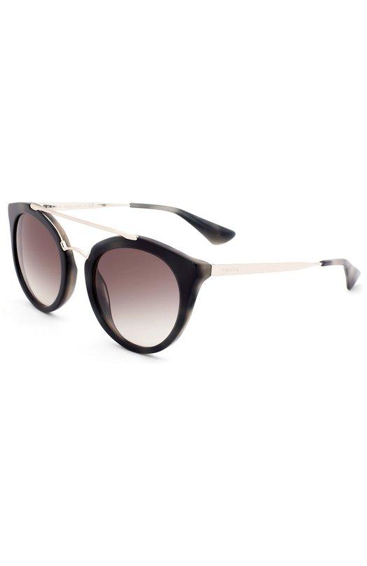 Солнцезащитные очки PradaОчки<br><br><br>Российский размер RU: 52<br>Пол: Женский<br>Возраст: Взрослый<br>Размер производителя vendor: 52<br>Цвет: Черный