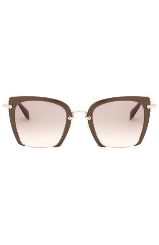 Купить Солнцезащитные очки Miu Miu, 52RS-UR23H2, Италия, Серый