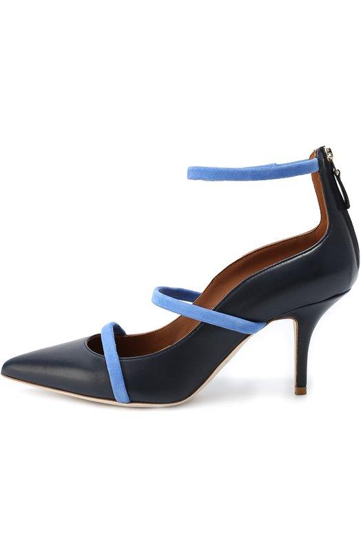 Кожаные туфли с ремешками из замши Malone Souliers R0BYN 70 2/NAPPA/SUEDE