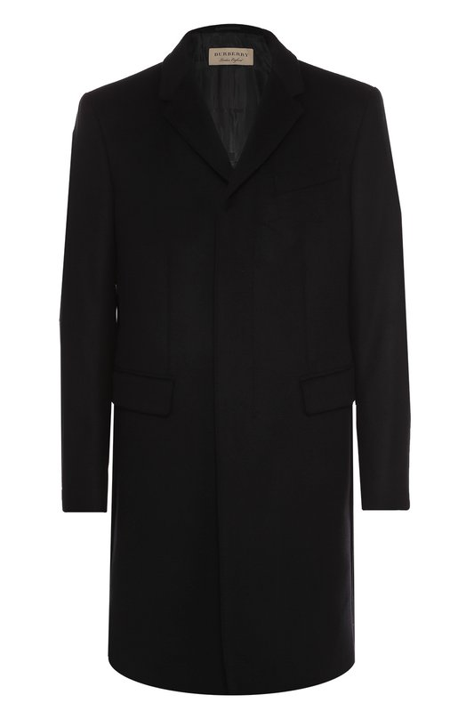 Однобортное пальто из смеси шерсти и кашемира с потайными пуговицами Burberry 4019019