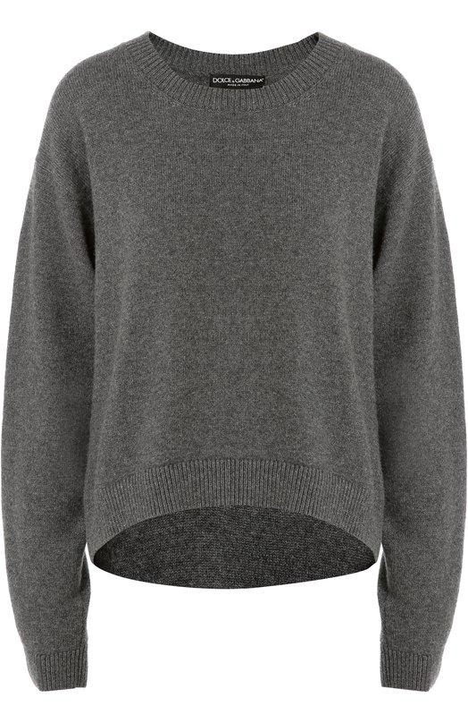 Кашемировый укороченный пуловер со спущенным рукавом Dolce & Gabbana 0102/FP022K/F64F9