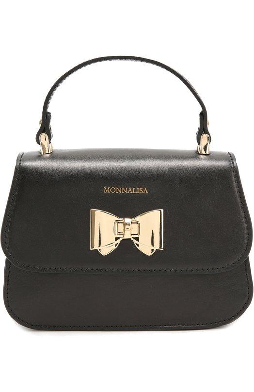 Кожаная сумка с бантом Monnalisa 198023/8710